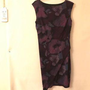 Ann Taylor Asymmetrical Sleeveless Dress